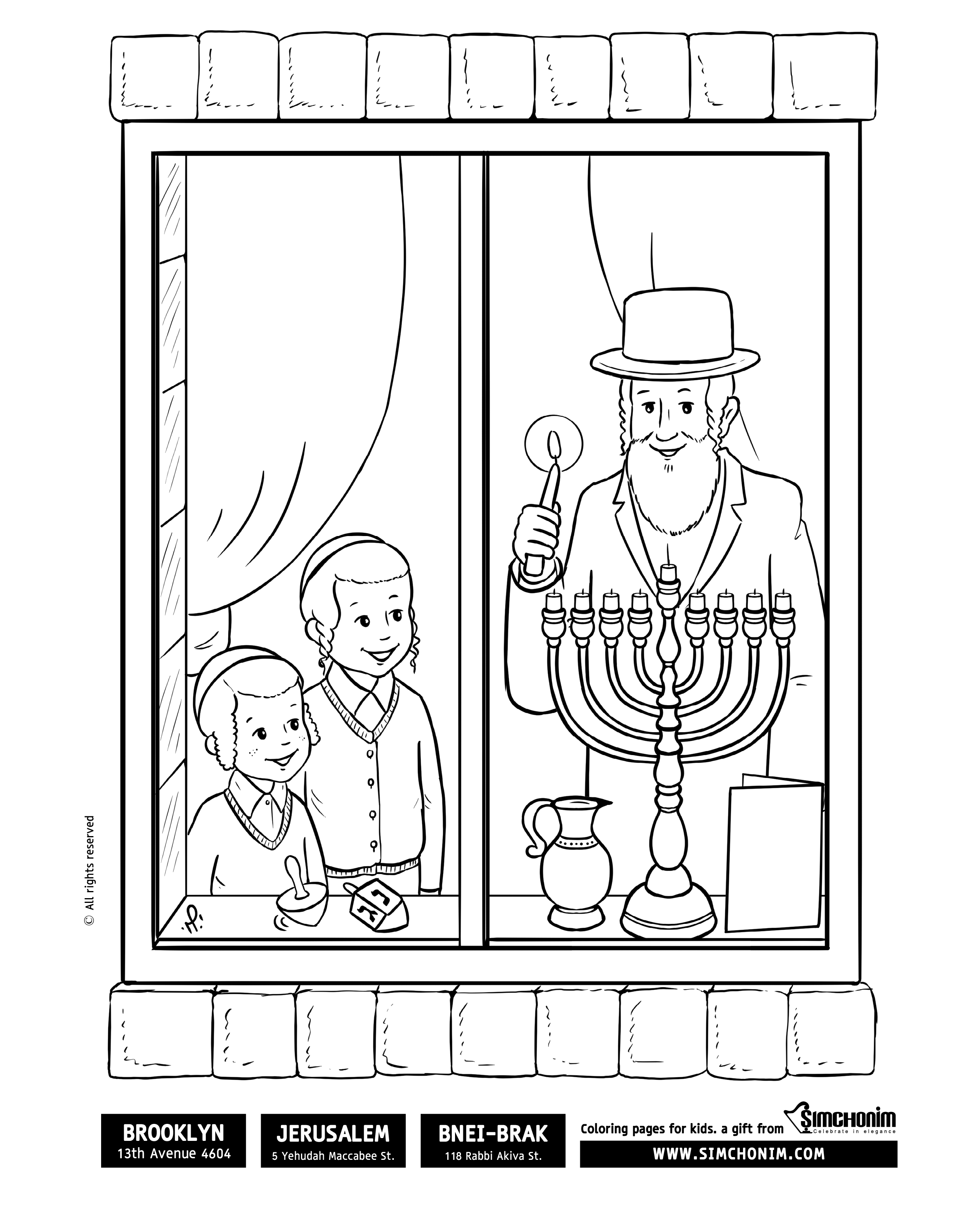 Va'etchanan Coloring Pages - Family Parshah - Parshah | 3071x2481